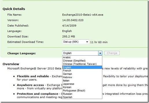 Download Exchange 2010 Beta
