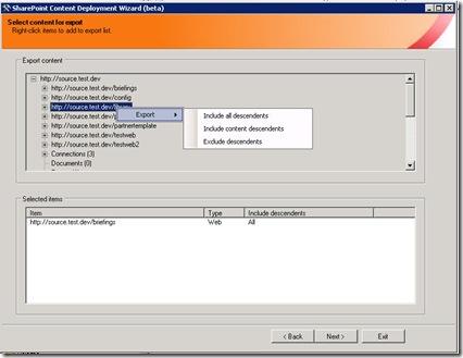 CDW_ExportSelect