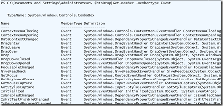 WPF_PowerShell Events