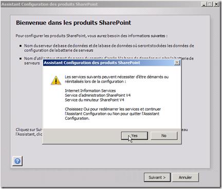 Assistant Configuration des produits SharePoint 1