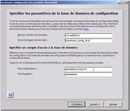 Assistant Configuration des produits SharePoint 3