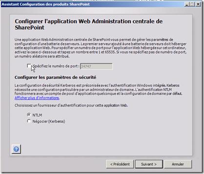 Assistant Configuration des produits SharePoint 5