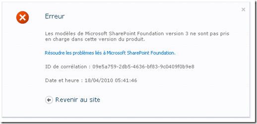 Error-LibraryTemplate-SharePoint2007-To-SharePoint2010