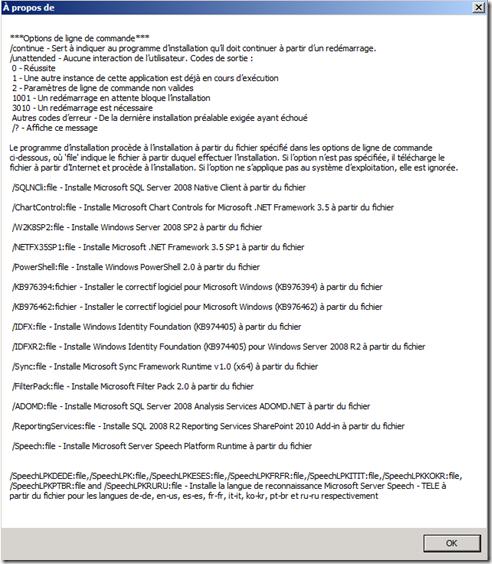Prerequis SharePoint 2010
