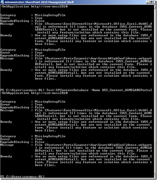 Erreurs d'installation de sharepoint 2010