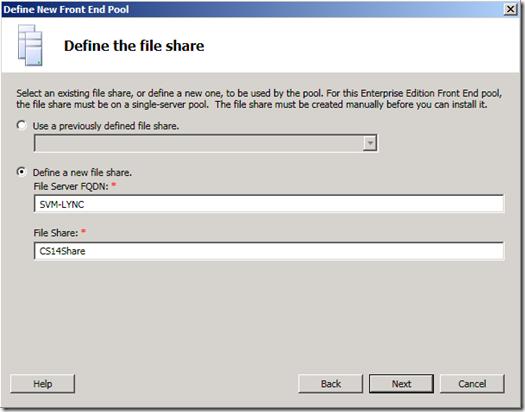 Define the file Share