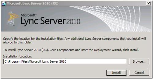 Installation Lync 2010