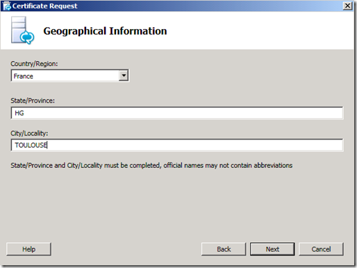 Lync Certificate GInformation