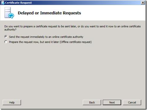 Lync Certificate Send