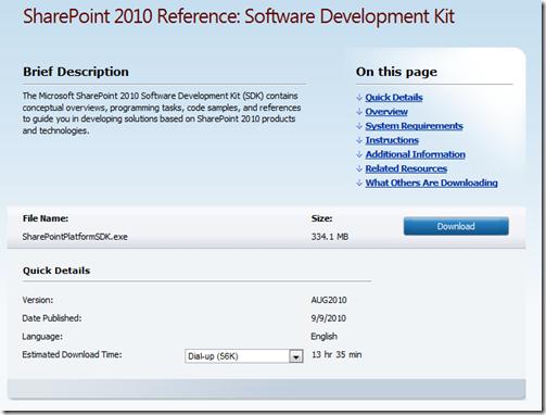 SharePoint 2010 SDK