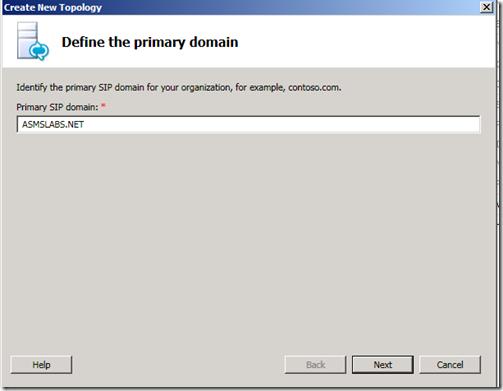 Topology Builder SIP Domain