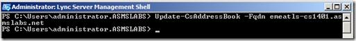 Update-CsAddressBook