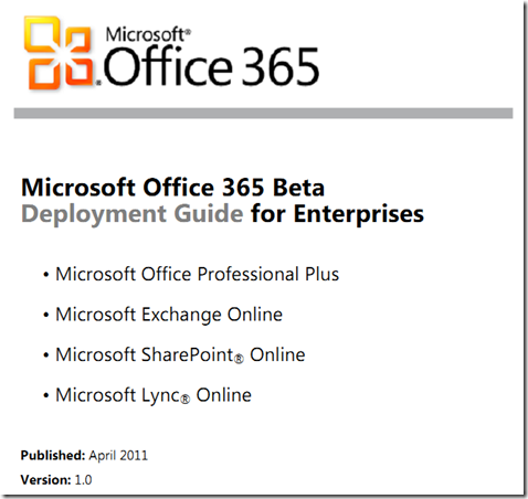 Office 365 Deployment Guide for enterprise