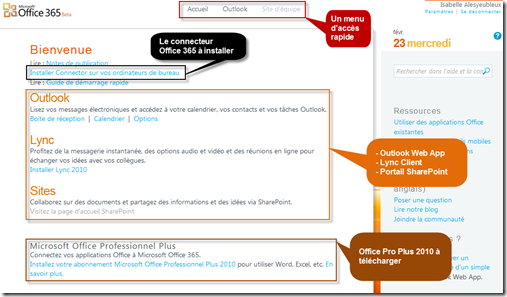 Office365 Utilisateur Overview