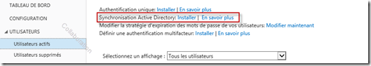 Synchro Annuaire Office 365